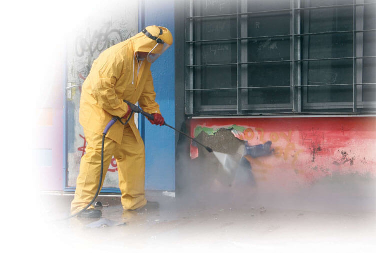 graffiti cleaning - industrial cleaning hull & yorkshire